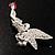 Swarovski Crystal Fairy Brooch (Silver Tone) - view 6