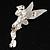 Swarovski Crystal Fairy Brooch (Silver Tone) - view 5