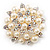 Stunning Wedding Imitation Pearl AB Crystal Corsage Brooch (Silver Tone) - view 4