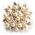 Stunning Wedding Imitation Pearl AB Crystal Corsage Brooch (Silver Tone) - view 10