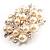 Stunning Wedding Imitation Pearl AB Crystal Corsage Brooch (Silver Tone) - view 3