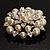 Stunning Wedding Imitation Pearl AB Crystal Corsage Brooch (Silver Tone) - view 5