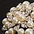 Stunning Wedding Imitation Pearl AB Crystal Corsage Brooch (Silver Tone) - view 6
