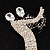 'Dancing Couple' Crystal Brooch (Clear&Black) - view 8