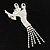 'Dancing Couple' Crystal Brooch (Clear&Black) - view 4