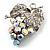 AB Crystal Bunch Of Grapes Brooch - view 7