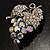 AB Crystal Bunch Of Grapes Brooch - view 2