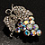 AB Crystal Bunch Of Grapes Brooch - view 3