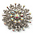 Sparkling AB Crystal Corsage Brooch (Silver Tone) - view 2