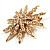 Vintage Gold Tone Swarovski Crystal Star Brooch/Pendant - view 3