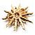 Vintage Gold Tone Swarovski Crystal Star Brooch/Pendant - view 5