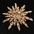 Vintage Gold Tone Swarovski Crystal Star Brooch/Pendant - view 2