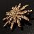 Vintage Gold Tone Swarovski Crystal Star Brooch/Pendant - view 6