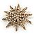 Vintage Gold Tone Swarovski Crystal Star Brooch/Pendant - view 7
