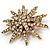 Vintage Gold Tone Swarovski Crystal Star Brooch/Pendant - view 8