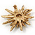 Vintage Gold Tone Swarovski Crystal Star Brooch/Pendant - view 9