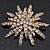Vintage Gold Tone Swarovski Crystal Star Brooch/Pendant - view 10