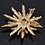 Vintage Gold Tone Swarovski Crystal Star Brooch/Pendant - view 11