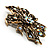 Bronze-Tone Vintage Filigree Floral Brooch - view 5