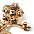 Exquisite Crystal Flower Brooch (Gold Tone) - view 3
