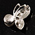 Tiny Crystal Butterfly Brooch (Silver Tone) - view 6