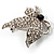 Small Diamante Butterfly Brooch (Silver Tone) - view 3