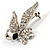 Small Diamante Butterfly Brooch (Silver Tone) - view 6