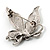 Small Diamante Butterfly Brooch (Silver Tone) - view 5