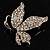 Small Diamante Butterfly Brooch (Silver Tone) - view 2
