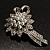 Delicate Faux Pearl Bridal Floral Brooch (Silver Tone) - view 10