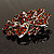 Victorian Corsage Flower Brooch (Silver & Amber Coloured) - view 7