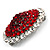 Hot Red Crystal Corsage Brooch (Silver Tone) - view 8