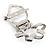 Twirl Crystal Scarf Pin/ Brooch (Silver Tone) - view 7