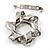 Twirl Crystal Scarf Pin/ Brooch (Silver Tone) - view 5