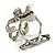 Twirl Crystal Scarf Pin/ Brooch (Silver Tone) - view 4