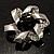 Twirl Crystal Scarf Pin/ Brooch (Silver Tone) - view 2