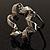 Twirl Crystal Scarf Pin/ Brooch (Silver Tone) - view 8