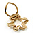 Twirl Crystal Scarf Pin/ Brooch (Gold Tone) - view 3