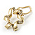 Twirl Crystal Scarf Pin/ Brooch (Gold Tone) - view 4