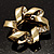 Twirl Crystal Scarf Pin/ Brooch (Gold Tone) - view 2