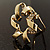 Twirl Crystal Scarf Pin/ Brooch (Gold Tone) - view 7