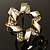 Twirl Crystal Scarf Pin/ Brooch (Gold Tone) - view 6