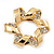 Twirl Crystal Scarf Pin/ Brooch (Gold Tone) - view 8
