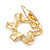 Twirl Crystal Scarf Pin/ Brooch (Gold Tone) - view 9