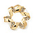 Twirl Crystal Scarf Pin/ Brooch (Gold Tone) - view 11