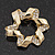 Twirl Crystal Scarf Pin/ Brooch (Gold Tone) - view 12