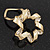 Twirl Crystal Scarf Pin/ Brooch (Gold Tone) - view 14