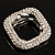 Square Shaped Crystal Scarf Pin/ Brooch (Silver Tone) - view 4
