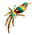Exotic Multicoloured Enamel Bird Brooch
