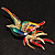 Exotic Multicoloured Flying Fire-Bird Brooch - view 2
